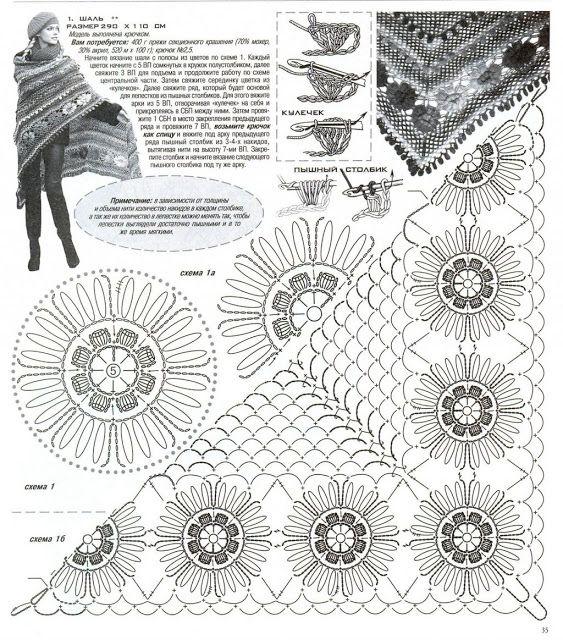 ergahandmade: Crochet Shawl + Diagrams | Ό,τι θέλω να αγοράσω ...