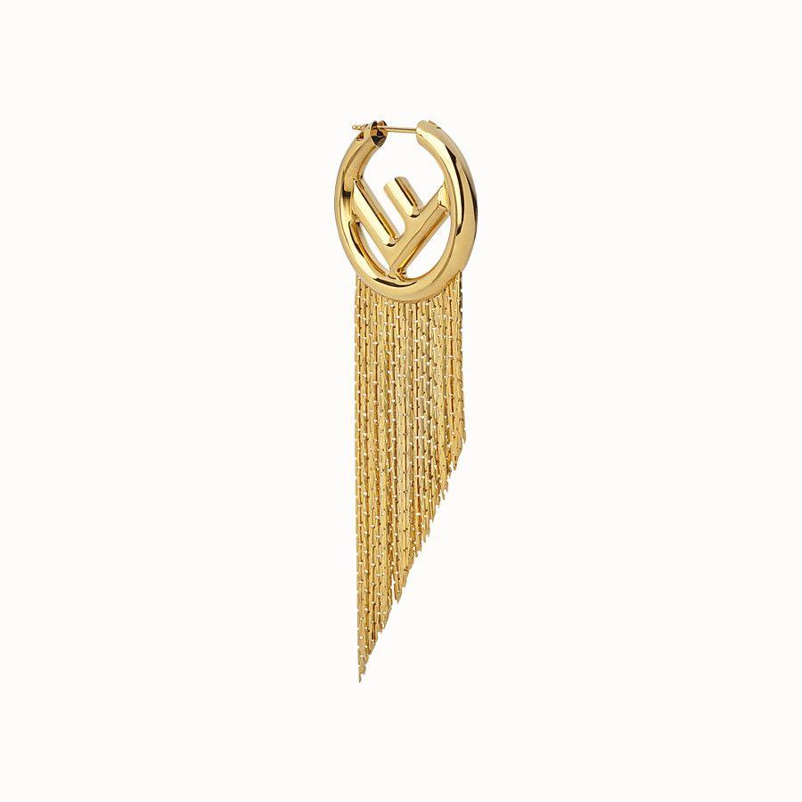 8181e5825a04b F is fendi earring in 2019 | Anoosheh Style | Fendi, Earrings, Gold ...