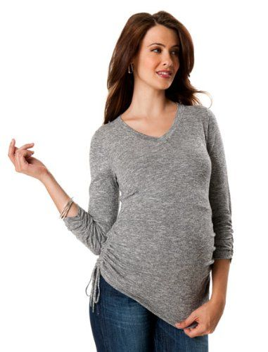 A Pea in the Pod Side Ruched Maternity Sweater