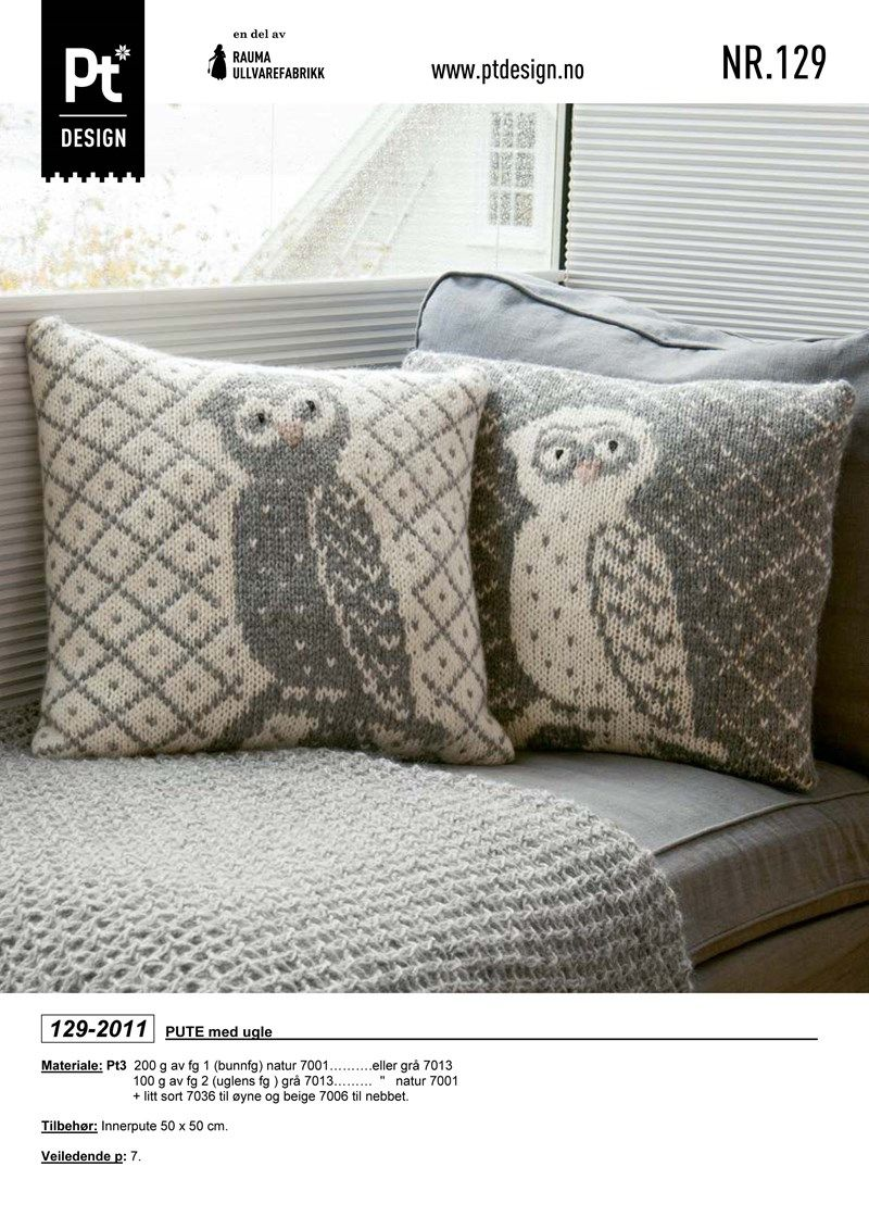 Love these owl pattern pillows!