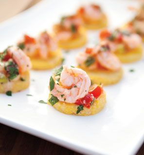 Shrimp & Grits cakes! Inspired by Charleston, reciep from SELF