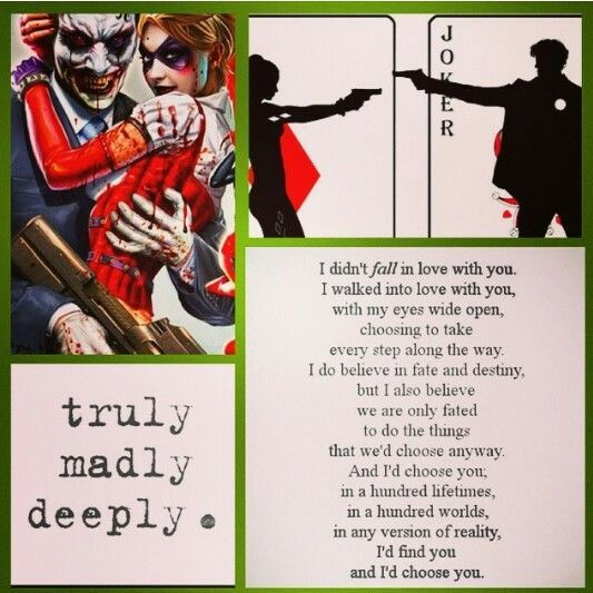 """Joker & Harley Quinn- """"Truly, Madly, Deeply... I Didn't"""