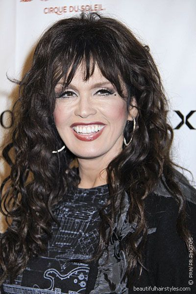 Marie Osmond In Sexy Long Wavy Hair Style With Choppy