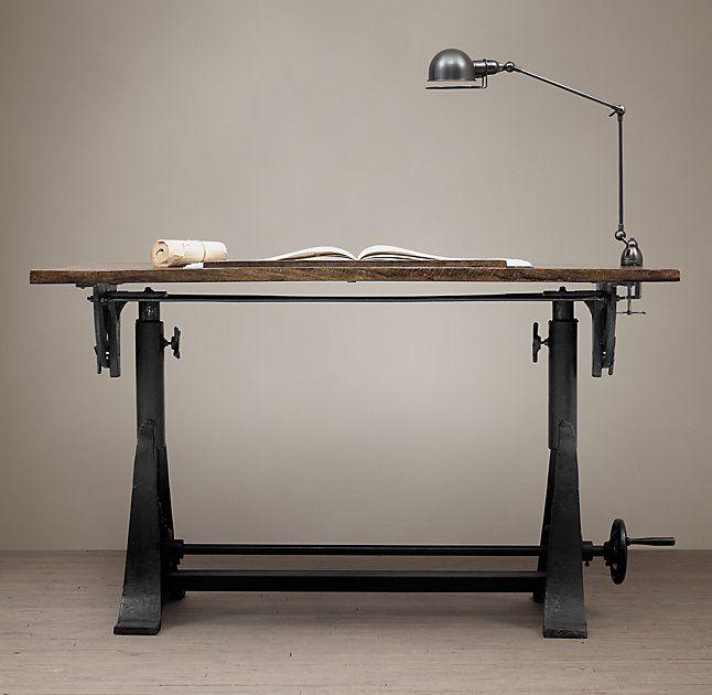 1910 American Trestle Drafting Table Arhaus 1 650 Regular 1 237 Sale Furniture Design Table Drafting Table Furniture