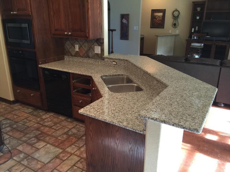 Luna Pearl Level 1 Granite White And Gray Dark Cabinets San Antonio Countertops Kitchen Remodel