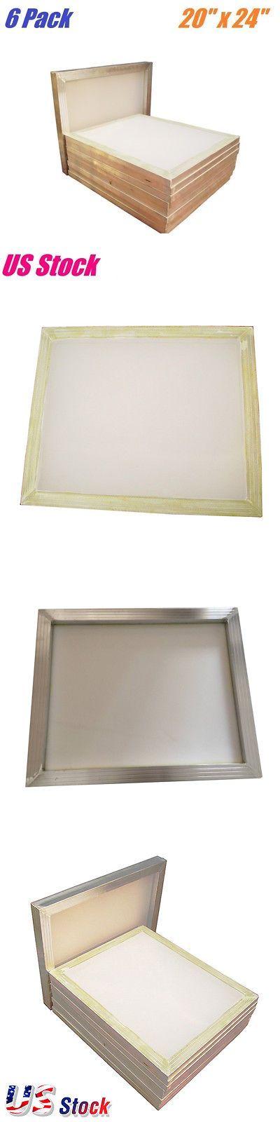 Screen Printing Frames 183114 6 Pcs 20 X 24 Aluminum Frame Silk Screen Printing Screens 160 Mesh C Screen Printing Frame Screen Printing Silk Screen Printing