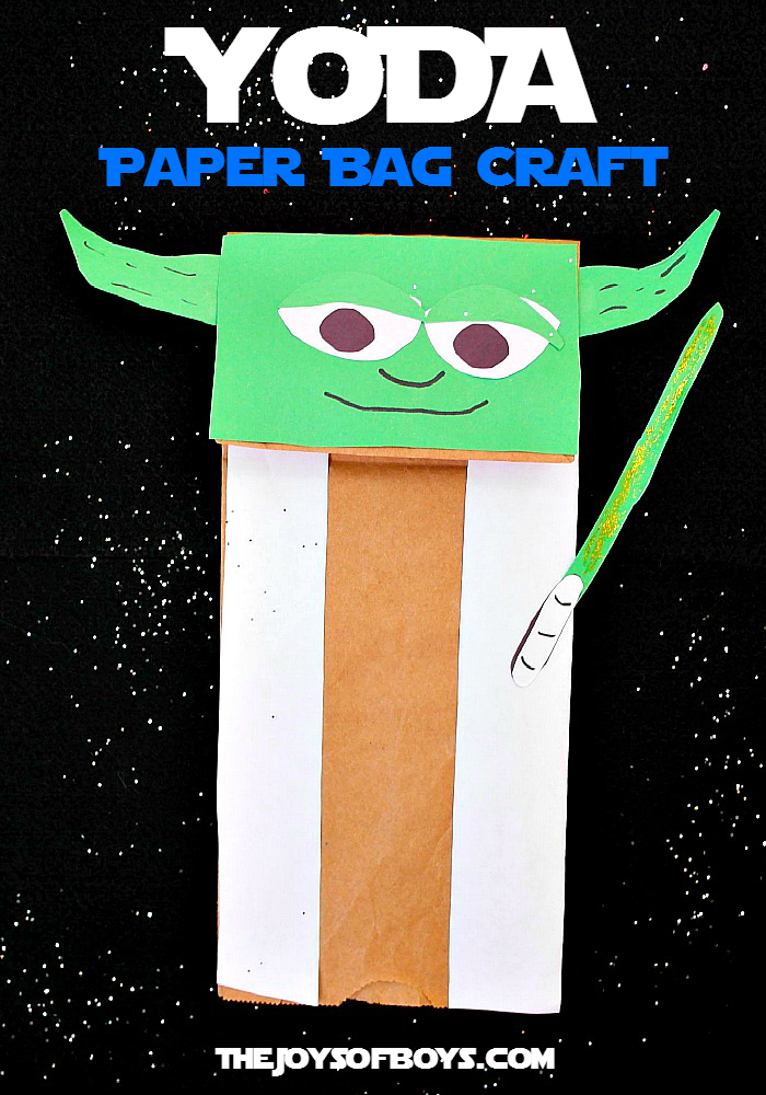 Yoda Puppet Easy Star Wars Craft Christa Bithday Pinterest