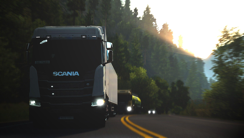 Euro Truck Simulator Ets2 Euro Truck Simulator 2 2k Wallpaper Hdwallpaper Desktop In 2021 Trucks Transportation Euro