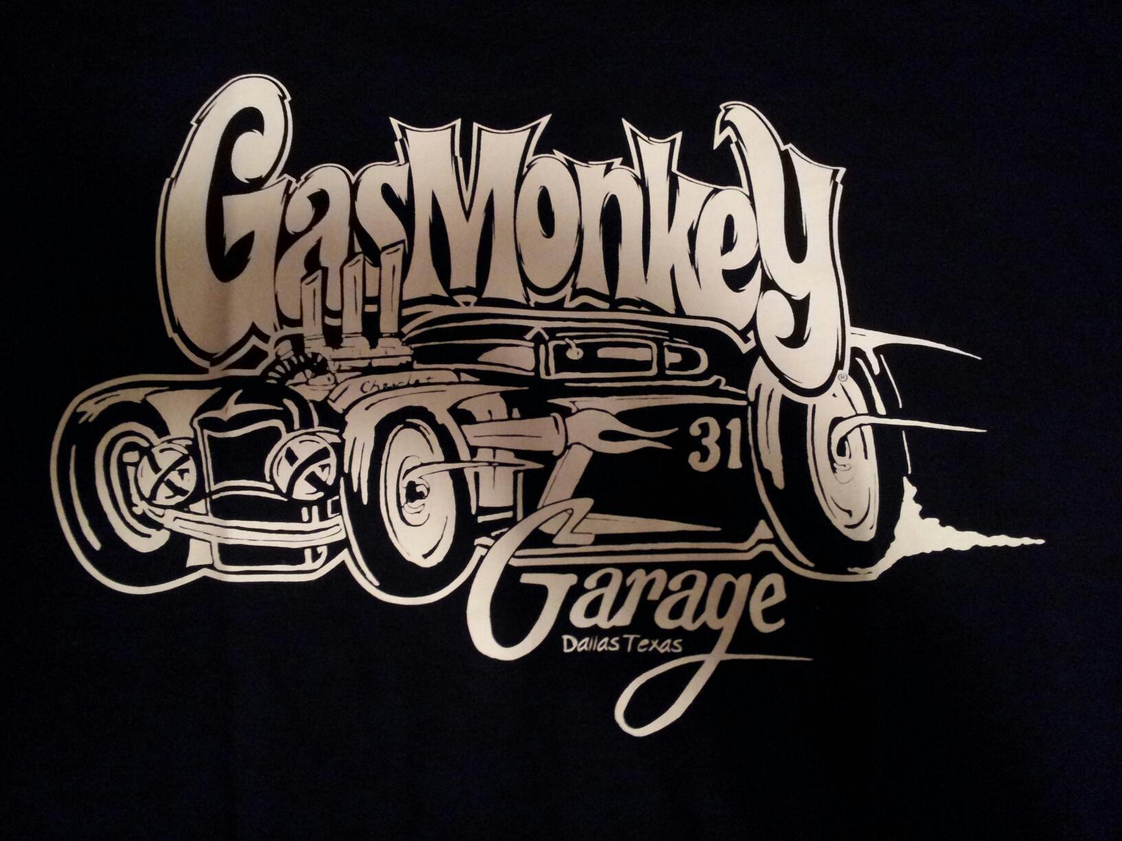 Gas Monkey Garage Helmet Label Official Fast N/' Loud Black Mens T-shirt