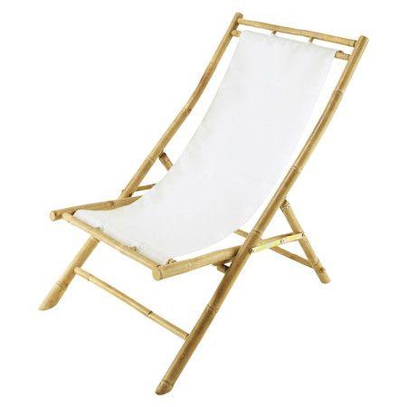 Rialto Bamboo Lounger In White At Joss Main Deckchair