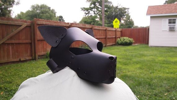 Leather Puppy Play Mask Hood Puppy Play Dog Mask Leather Diy