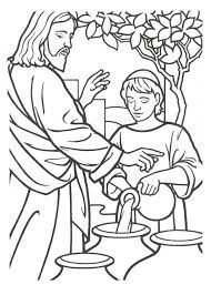 Image result for jesus' first miracle coloring page ...