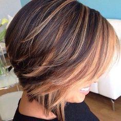 carre degrade 5 | Coiffure, Cheveux courts, Cheveux