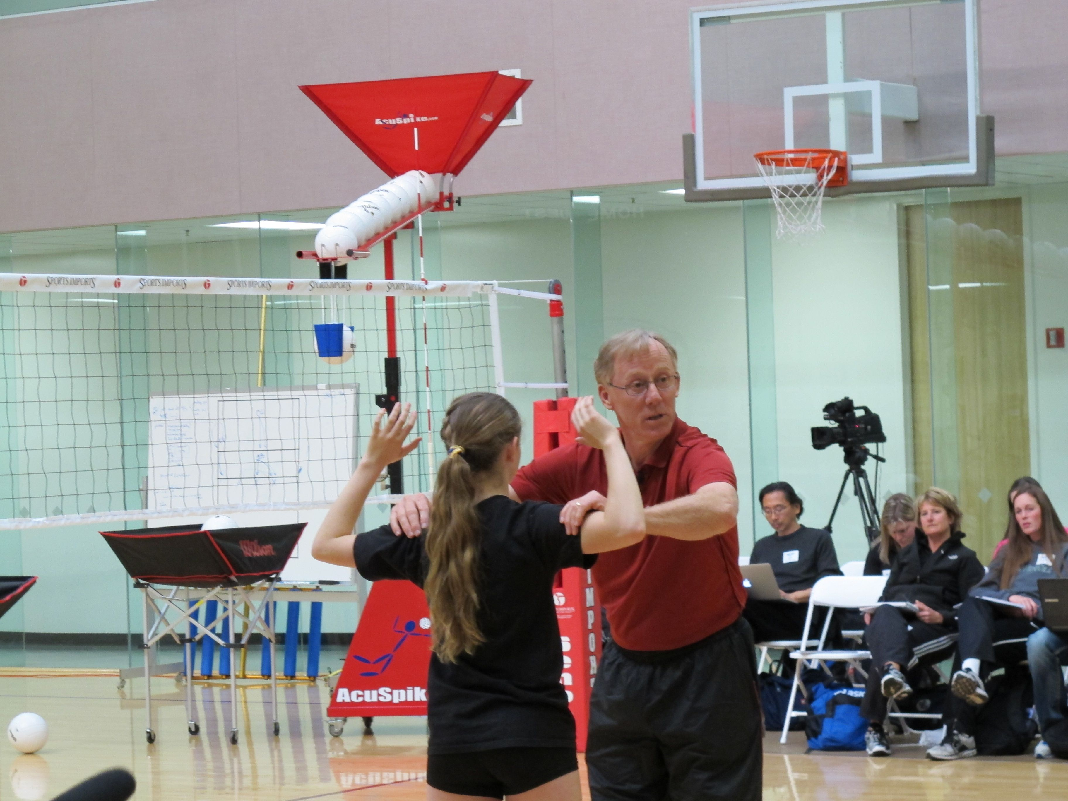 Stanford Head Volleyball Coach John Dunning Discussing How He Teaches The Skill Of Hitting At The Art Of Coaching Volleyball Northern Cal Volleyball Skills Coaching Volleyball Volleyball Workouts
