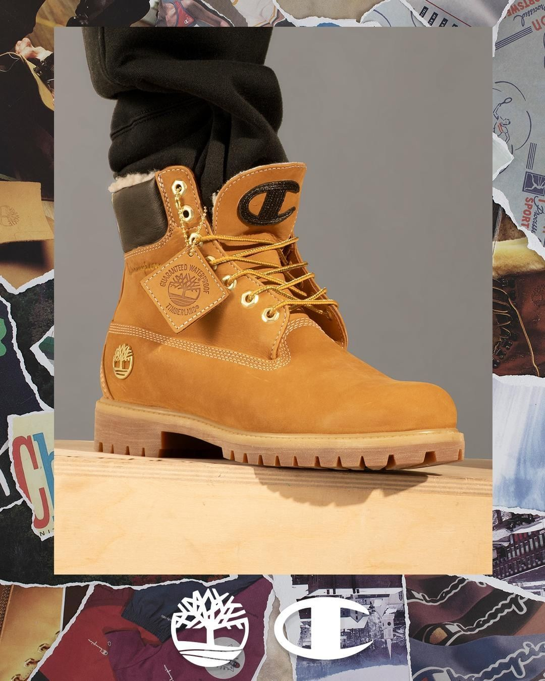 pretty nice 3498e 57146 The perfect collab.  TimberlandxChampion Luxe Launching 11 10, In-Store and  Online Men s and Kids