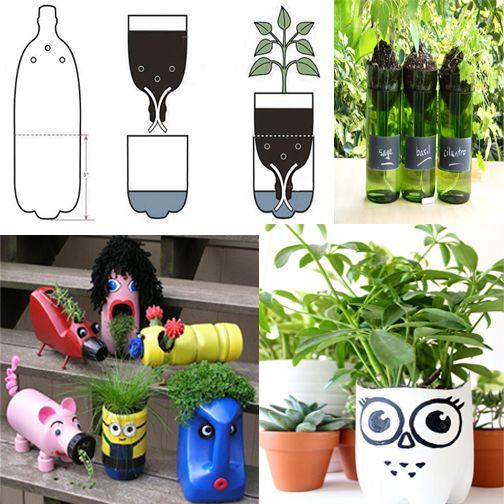 Diy Bottle Planters Make Your Surrounding Even Greener By Reusing The Plastic Bottles Diy
