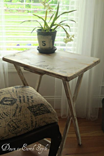 TV Trays with style:  Great tutorial on how to make you tv trays cute! No more hiding them in the closet!