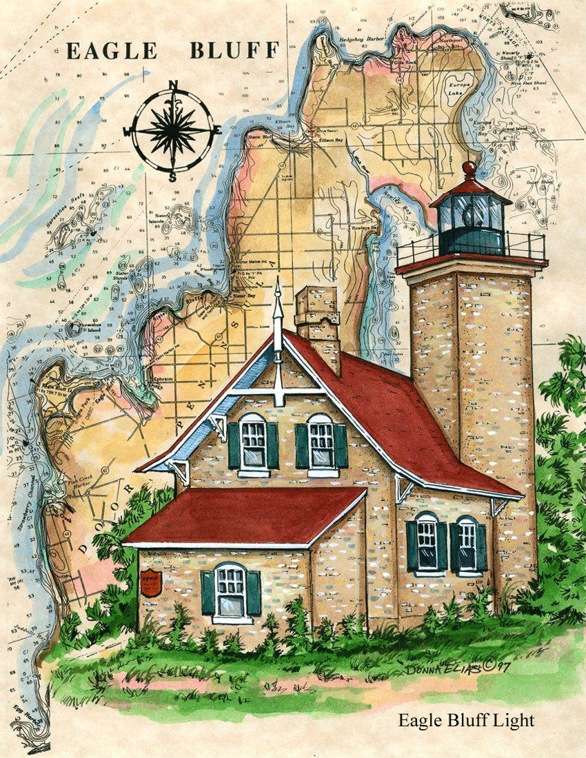 Eagle bluff lighthouse donna elias lighthouse artdonna elias