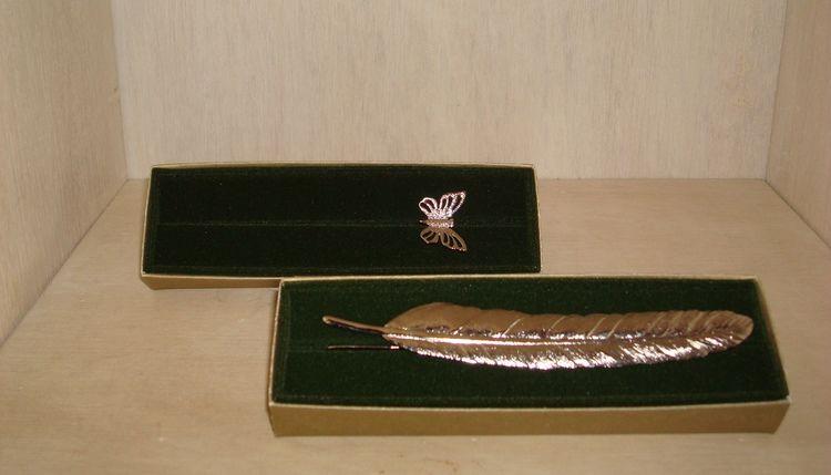Marcador de Livro - Modelos Pena e Borboleta