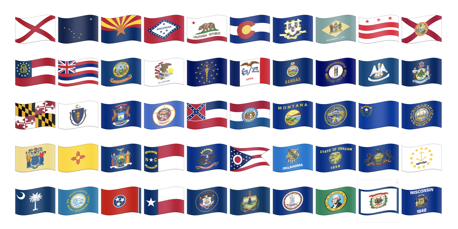 Us State Flag Emojis Now Possible Us States Flags State Flags U S States