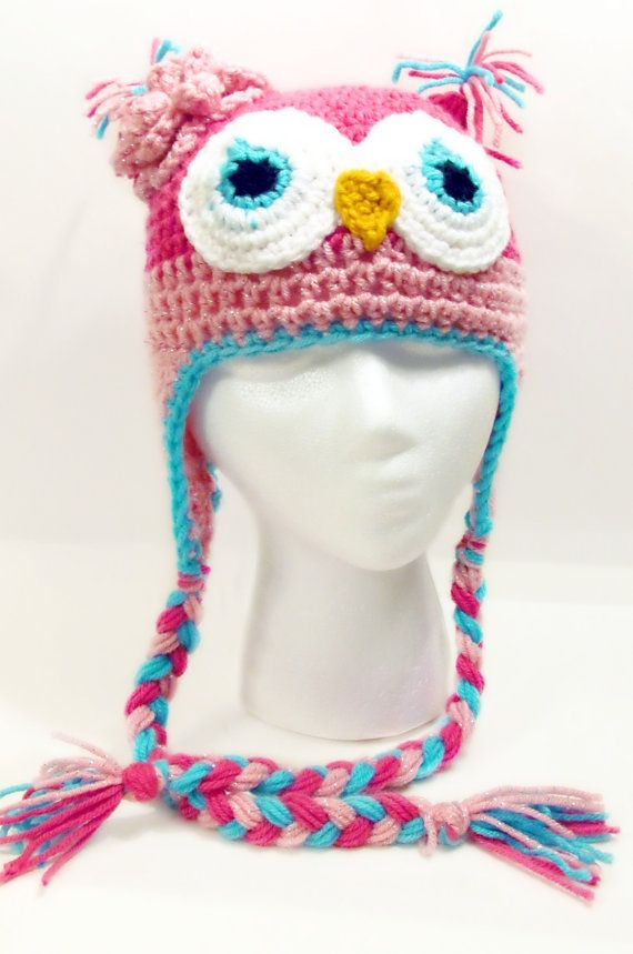 Crochet Owl Hat | buhos | Croché, Ganchillo y Gorros crochet