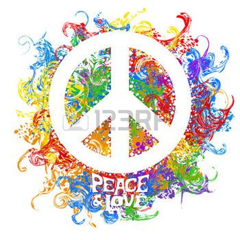 Fleur Hippie Abstract Vector Illustration Hippie Symbol Over