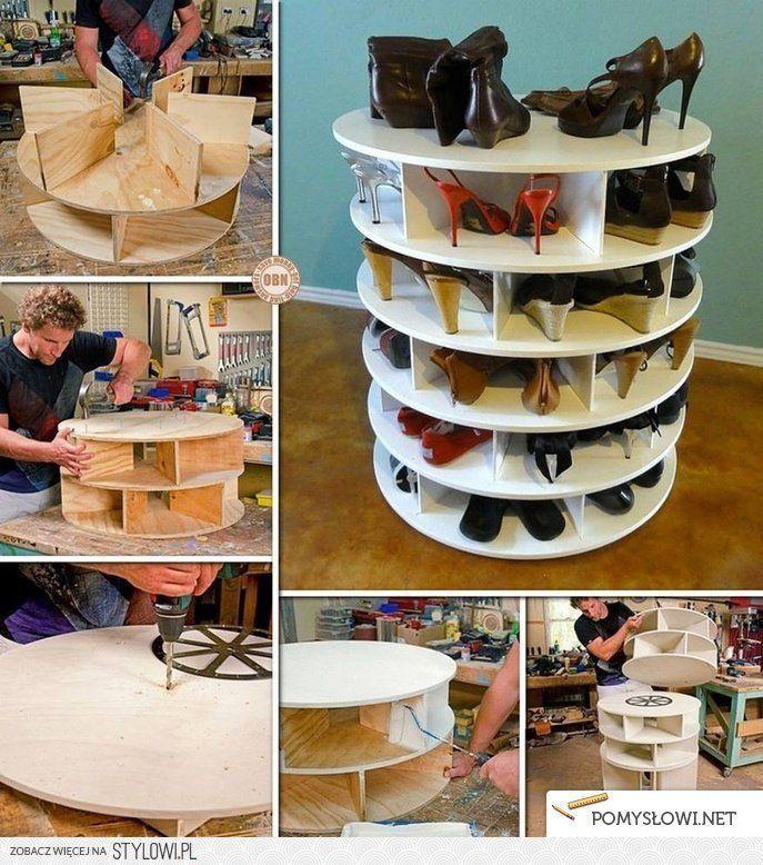 Szafka Na Buty Zrob To Sam Pomyslowi Diy Lazy Susan Lazy Susan Shoe Rack Diy Furniture
