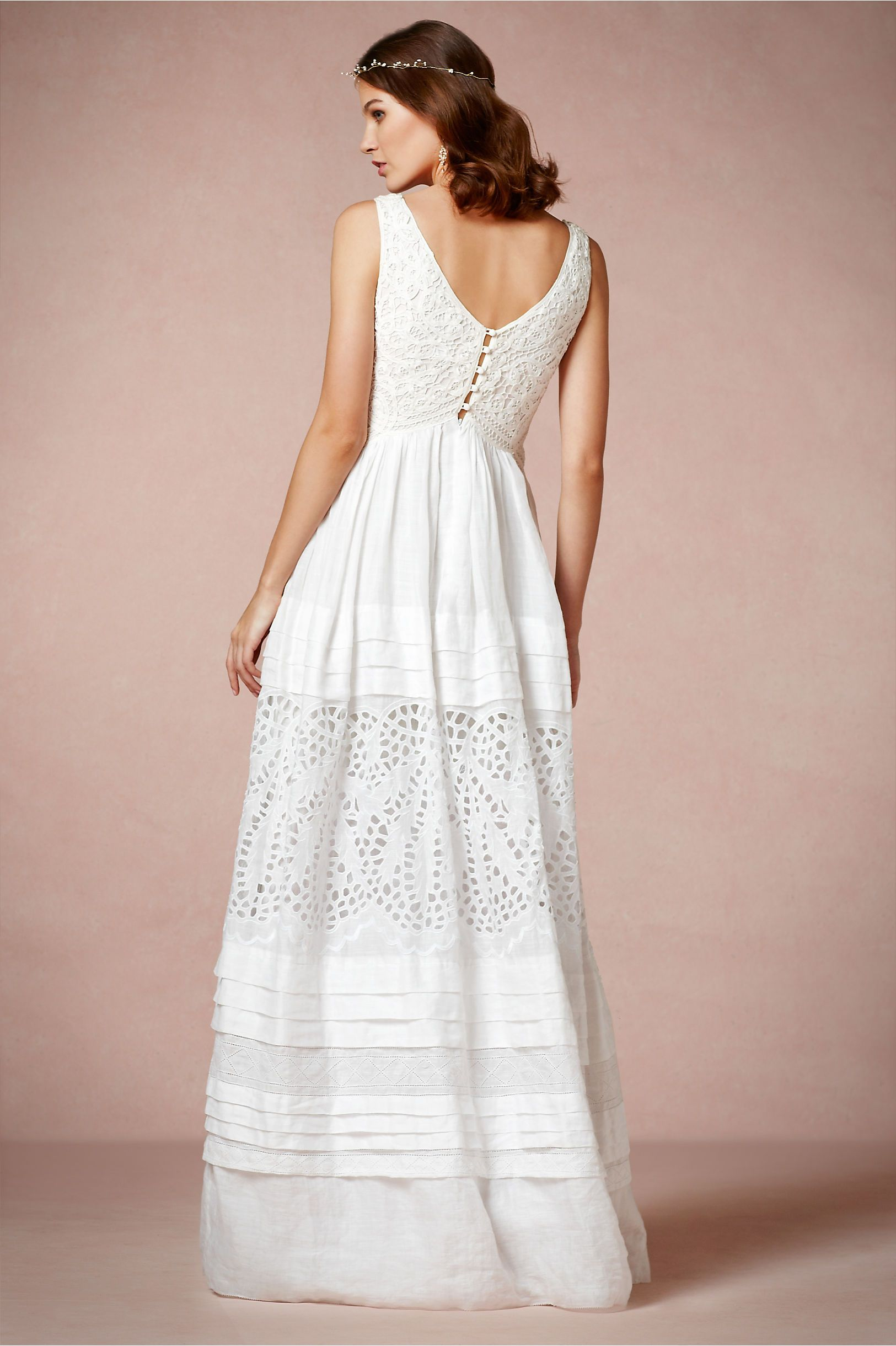 Lace and Ramie Collette Dinnigan Gown from BHLDN - Vegan Wedding ...