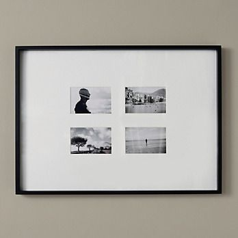 Black Wooden Poster/ Multi Aperture Frame 4x6"