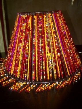 Beaded Lamp Shades Delectable Beaded Lamp Shades  Lampshades Beads And Craft Inspiration