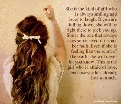 Shes The Type Of Girl Quote Makes Me Smile Pinterest Sad