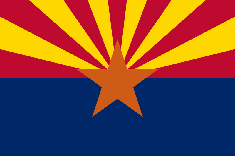 Arizona State Flag Was Admitted To The Union In 1912