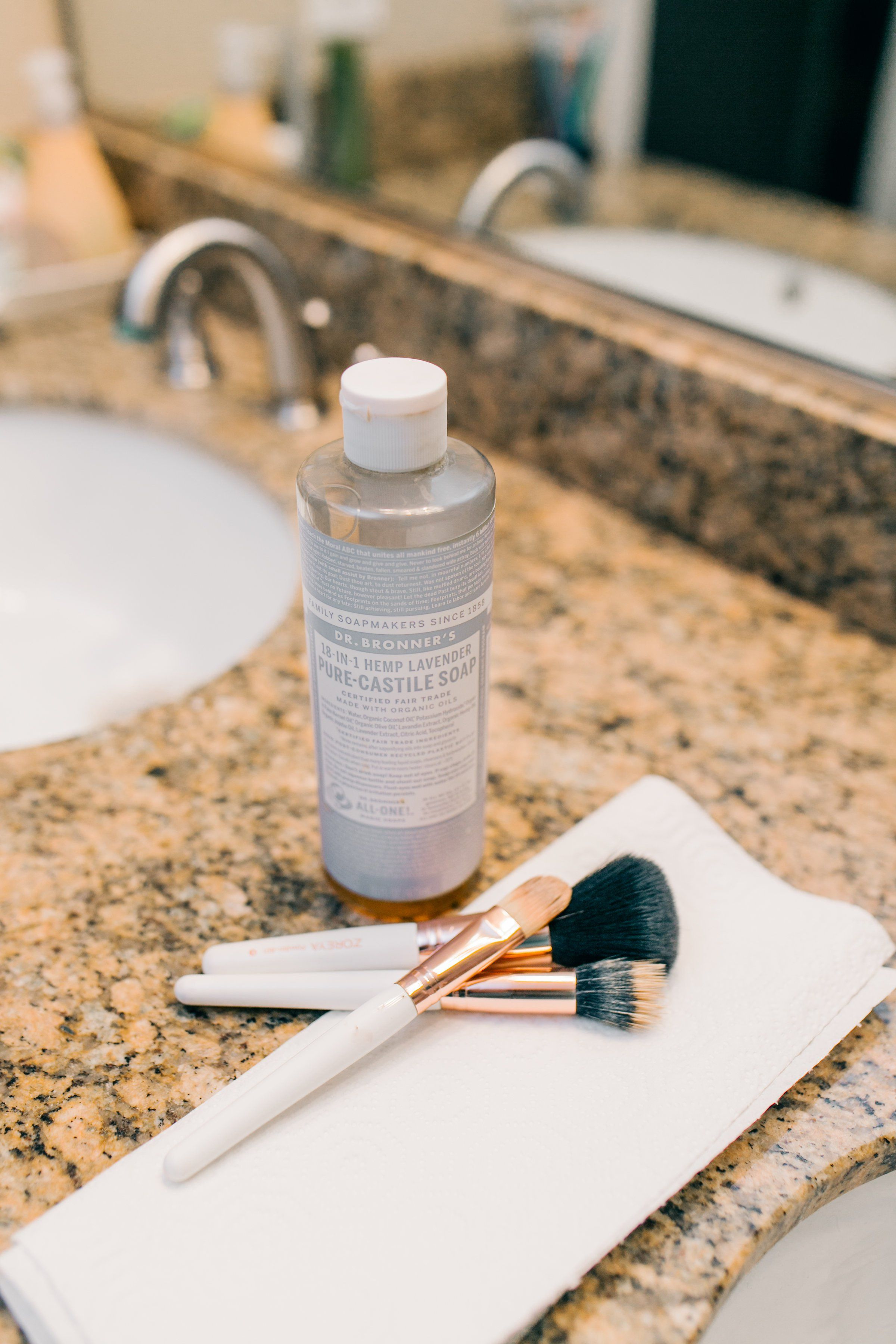 The Cheapest Way to Clean Makeup Brushes Using Dr. Bronner