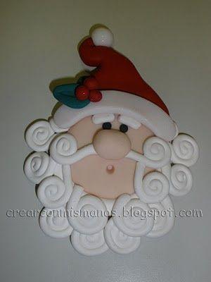 hecho a mano Arcilla Polimérica encantos de Santa Claus Papá Noel Colgantes 24x22mm 10 un