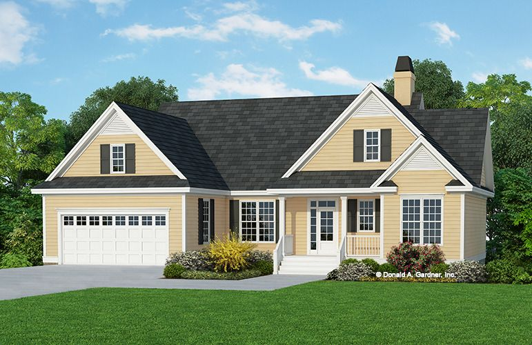 Home Plan The Blakely W Pin 839 This Modest House Plan Makes The