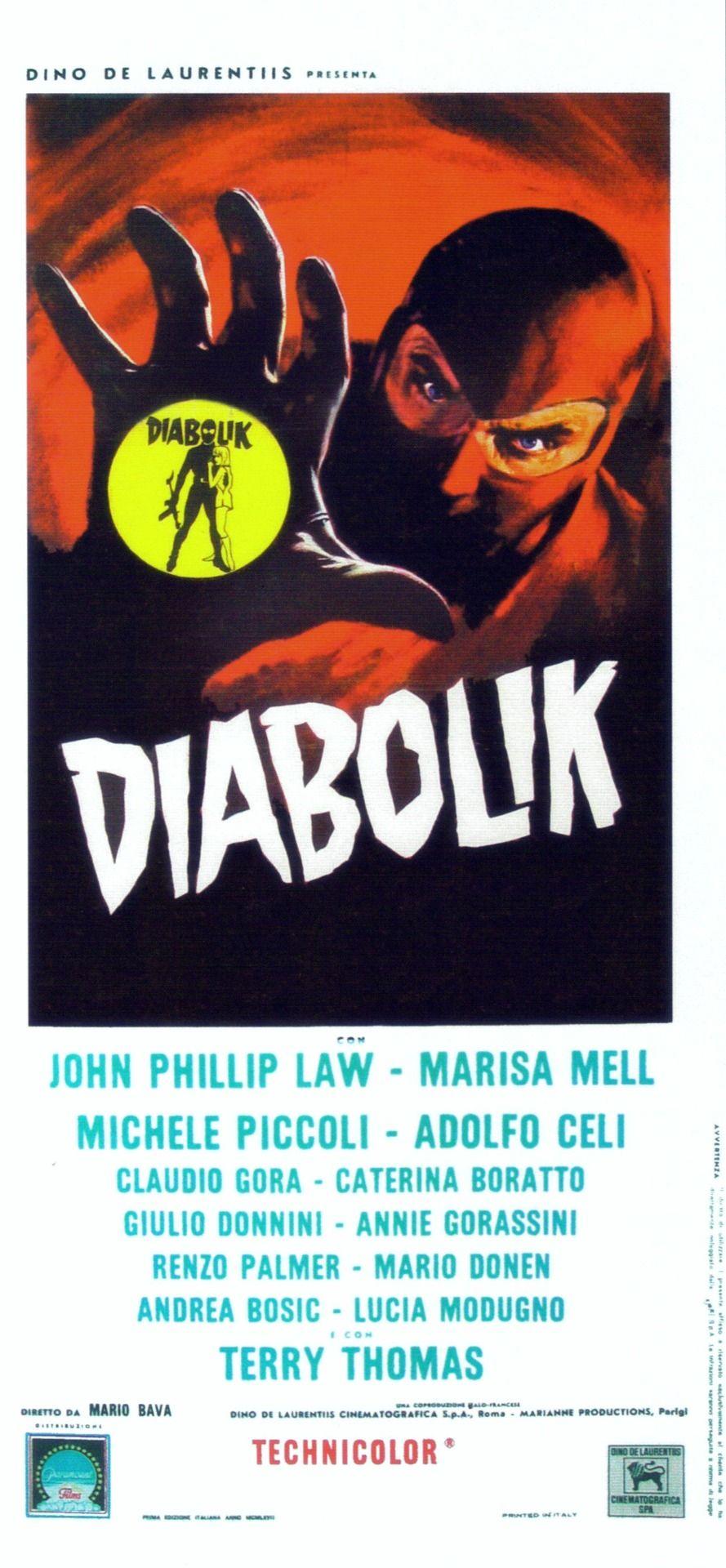 Diabolik, 1968 - Italian poster
