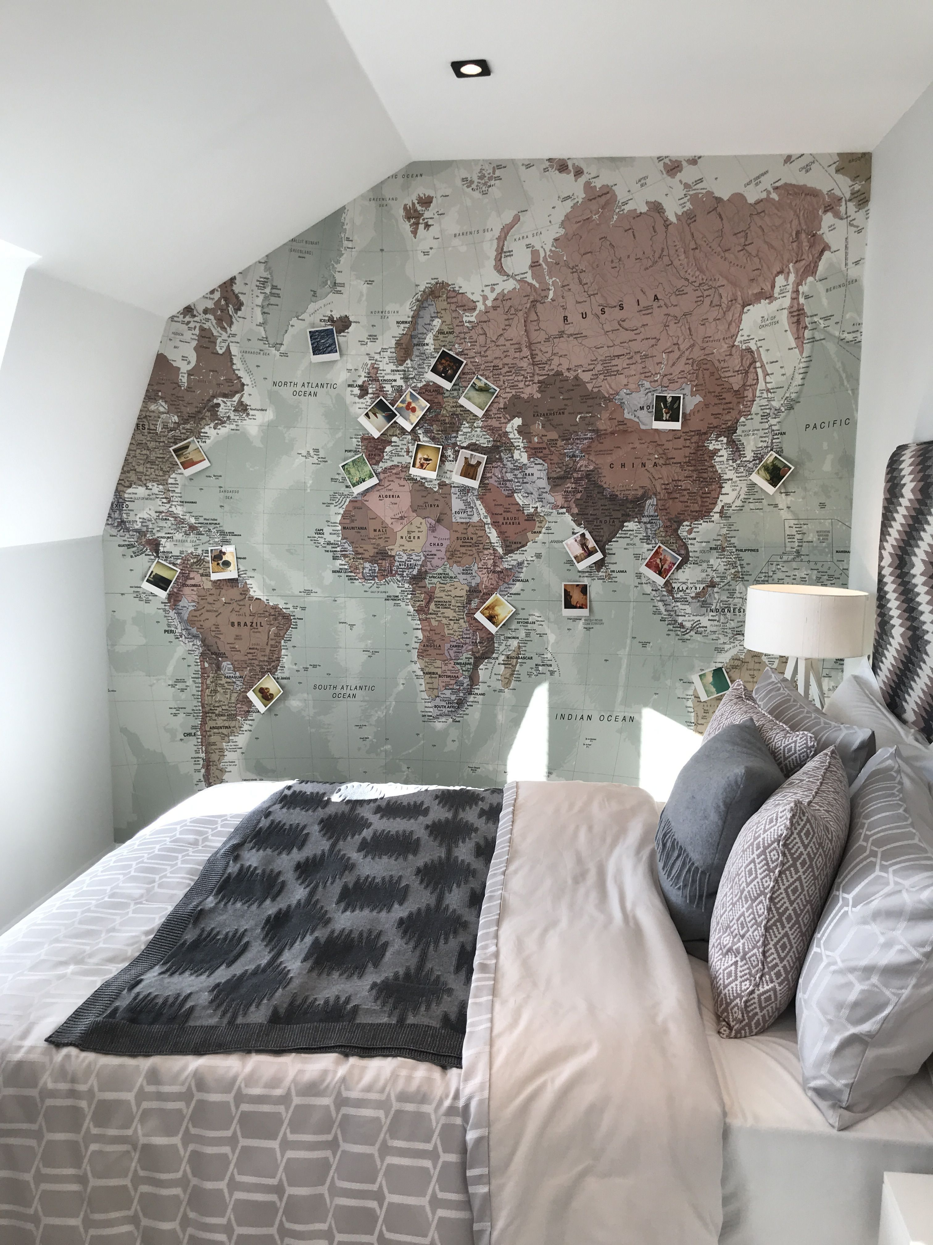 Bedroom Goals Wall Mural World Map Worldmapmural World Map