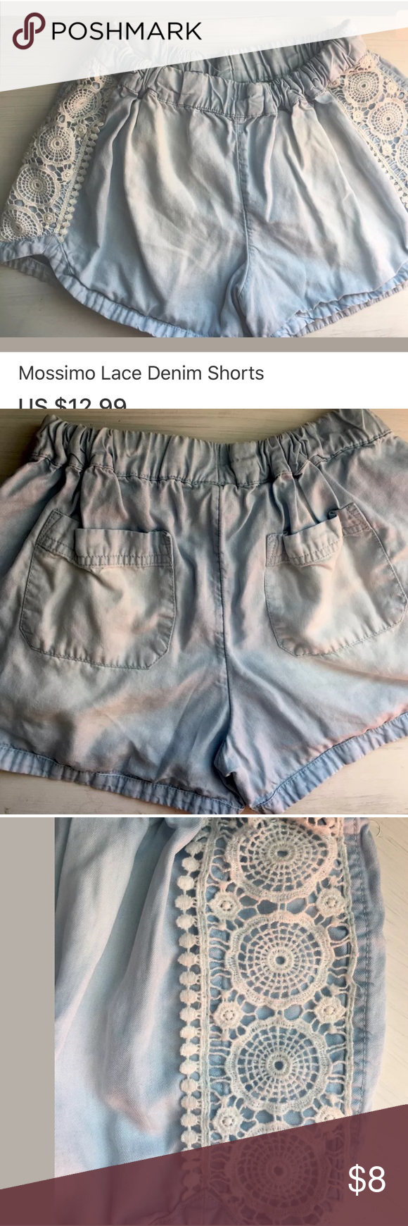Mossimo Shorts Lace Detail Size Small GUC-Size Small Mossimo Supply Co Shorts
