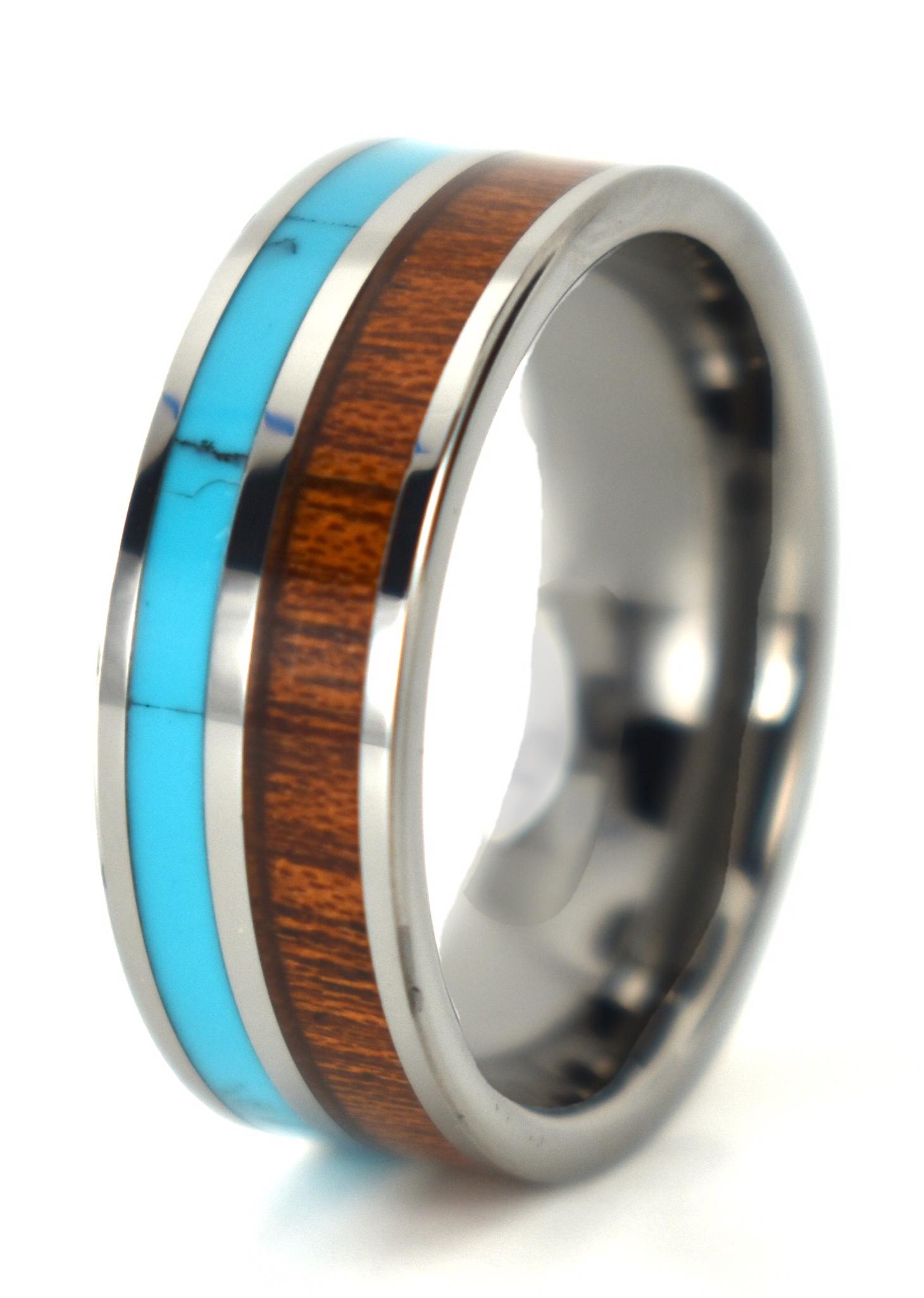 Zuni Wood Wedding ring designs, Mens wedding rings, Ruby
