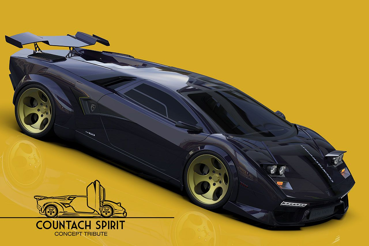 An Amazing Modern 3d Concept Of A Lamborghini Countach Inspired