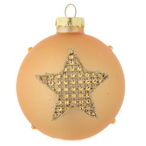 9d211bf9d4b Bola árbol de Navidad vidrio dorado y strass 70 mm  bolanavidad   bolaárbolnavidad  árbolnavidad