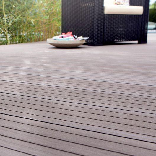 Lame Grafik En Composite Taupe Naterial L 240cm X L 14cm X Ep 26mm Terrasse Bois Terrasse Jardin Bois