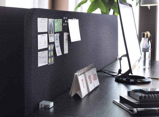 nahaufnahme von galant abschirmung f r den schreibtisch in. Black Bedroom Furniture Sets. Home Design Ideas