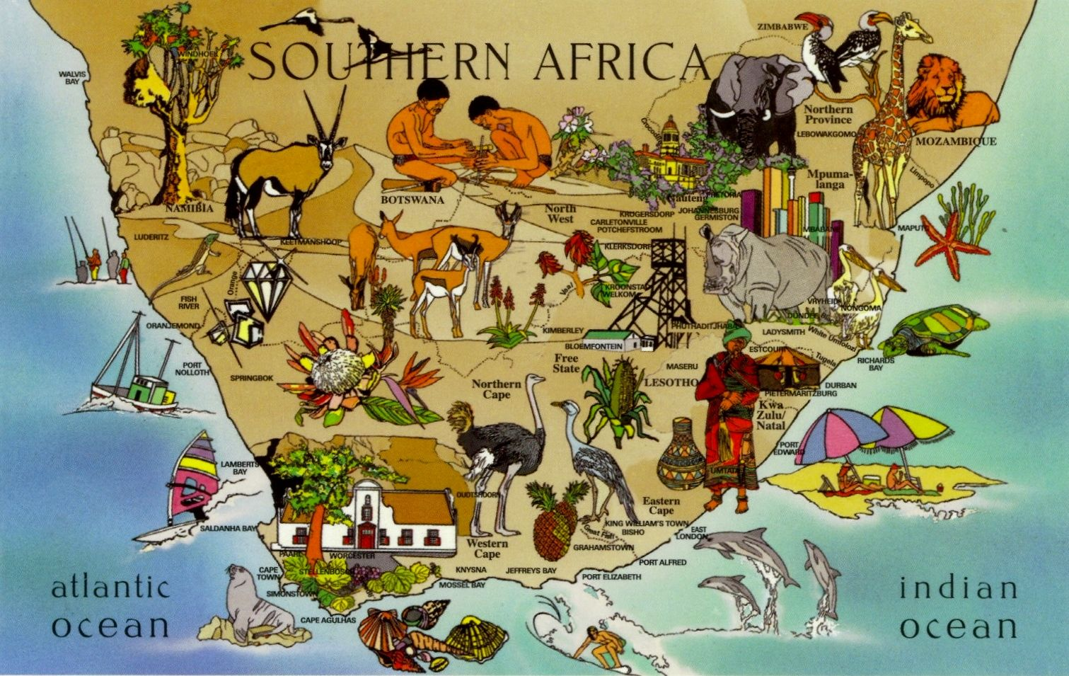 cape namibia westcoast route map Google