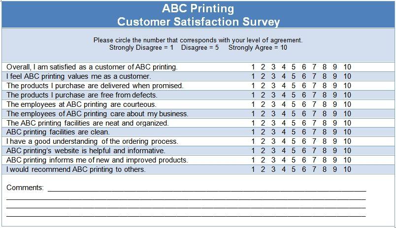 sample questionnaire excel format