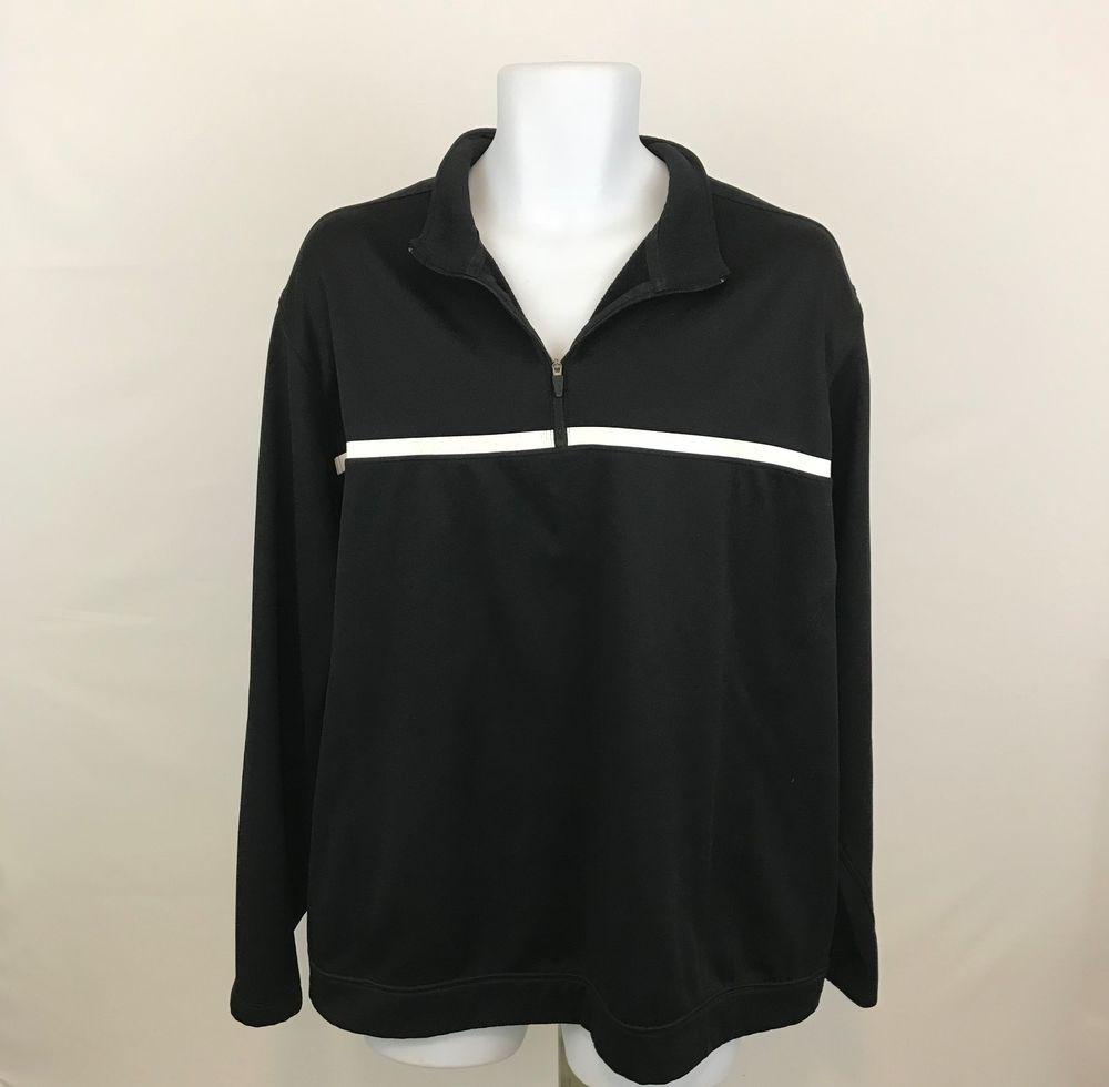 973b98e74c Nike Golf Tour Performance Therma Fit Mens Shirt XL 1 4 Zip Black Long  Sleeve