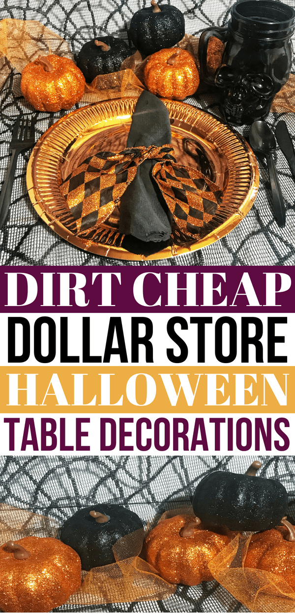 Awesome Dollar Store Halloween Party Table Decorations Halloween