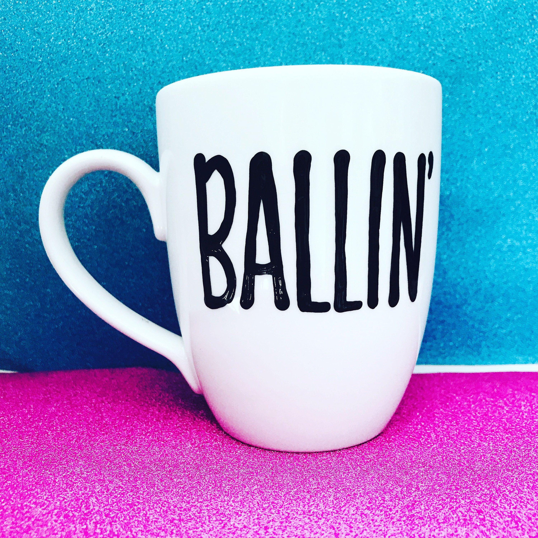 Best coffee mugs etsy - Ballin Awesome Coffee Mug For Dads Funny Coffee Mug Gifts For Guys Men Gift White Elephant Gift Gifts For Dad Ballin Mug