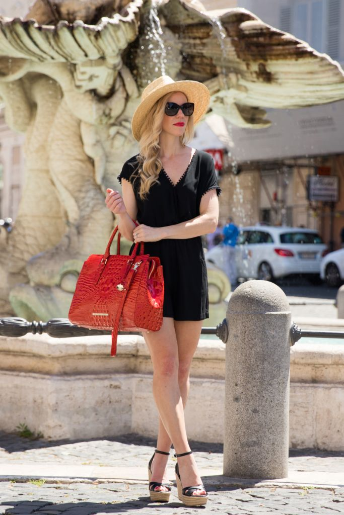 d045a7e2f33 Simple summer look with standout accessories (romper is less than  40!)
