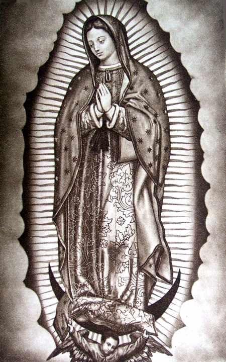 cc21973ce Virgin mary 2 | virgin mary 1 | Virgen mary tattoo, Mary tattoo ...
